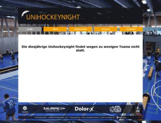 unihockeynight.com screenshot