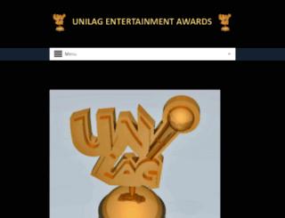 unilagentertainmentawards.com screenshot