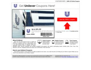 unilever.couponrocker.com screenshot