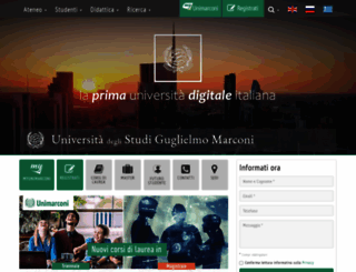 unimarconi.it screenshot