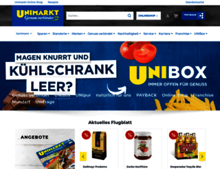 unimarkt.at screenshot