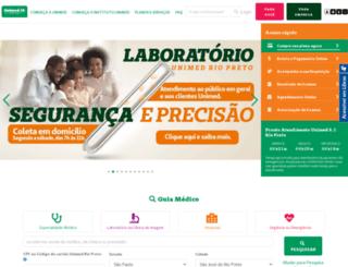 unimedriopreto.com.br screenshot