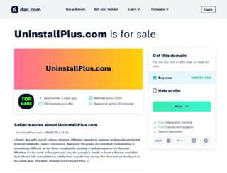 uninstallplus.com screenshot