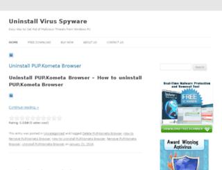 uninstallvirusspyware.com screenshot