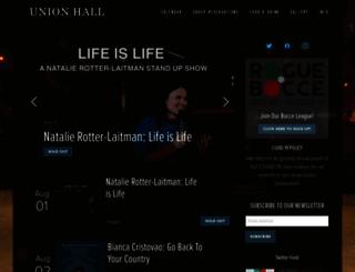 unionhallny.com screenshot