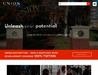unionky.edu screenshot