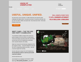 unionofunemployed.com screenshot