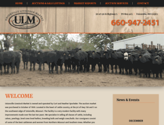 unionvillelivestock.net screenshot