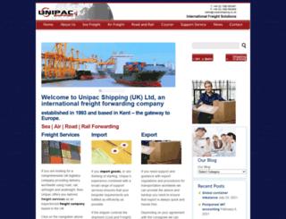 unipacshipping.co.uk screenshot