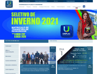 uniplaclages.edu.br screenshot