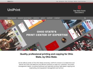 uniprint.osu.edu screenshot