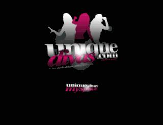 unique-divas.com screenshot