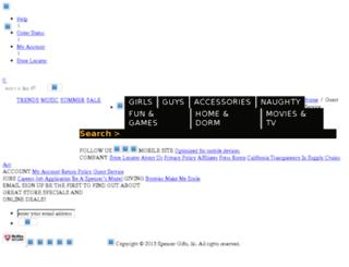 unique-gifts.spencersonline.com screenshot