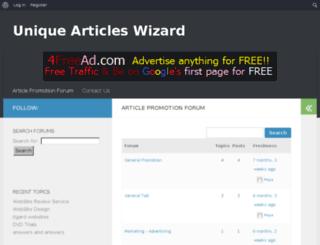 uniquearticleswizard.com screenshot