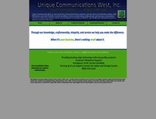 uniquecomm.net screenshot
