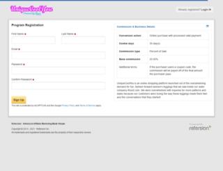 uniquecoolyou.refersion.com screenshot