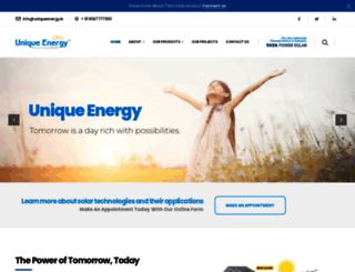 uniqueenergy.in screenshot