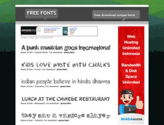 uniquefont.kutakharisma.com screenshot