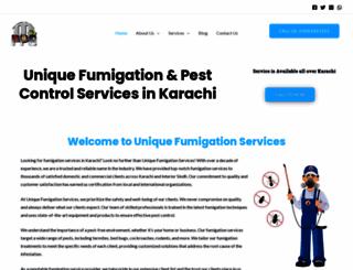 uniquefumigation.com screenshot
