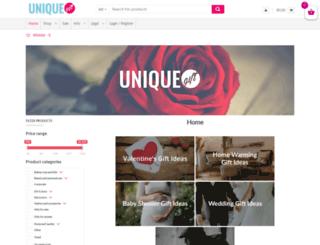 uniquegift.co.za screenshot