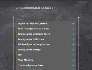 uniqueimmigrationbd.com screenshot