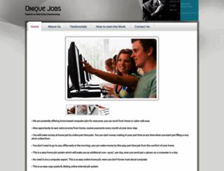 uniquejobsindia.webs.com screenshot