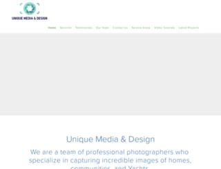 uniquemediadesign.com screenshot