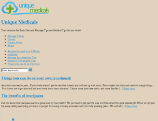 uniquemedicals.com screenshot