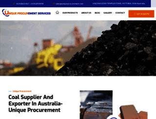 uniqueprocurement.com screenshot