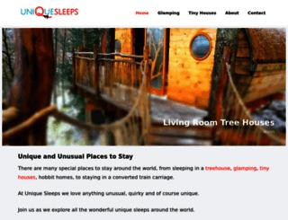 uniquesleeps.com screenshot