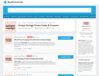 uniquevintage.bluepromocode.com screenshot