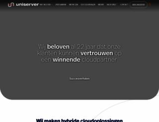 uniserver.nl screenshot