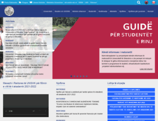 unishk.edu.al screenshot