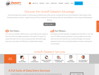 unisoftdatatech.com screenshot