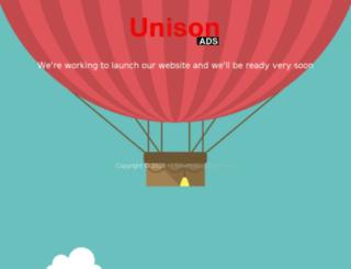 unisonads.com screenshot