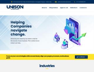 unisoninternational.net screenshot