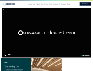 unispace.com screenshot