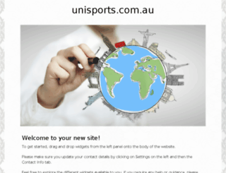 unisports.com.au screenshot