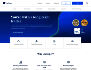unisuper.com.au screenshot