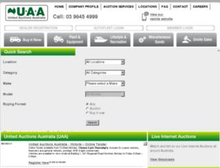 unitedauctions.net.au screenshot