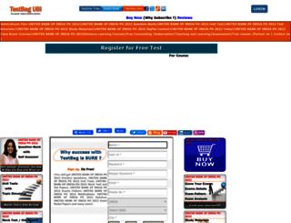 unitedbankofindia.testbag.com screenshot
