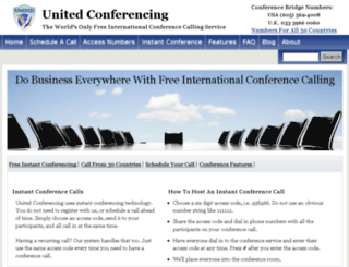 unitedconferencing.com screenshot