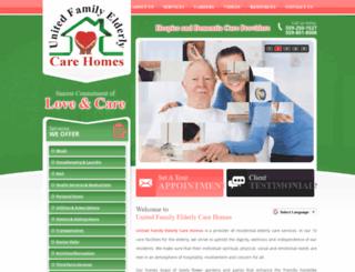 unitedfamilycarehomes.com screenshot