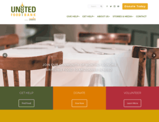 unitedfoodbank.org screenshot