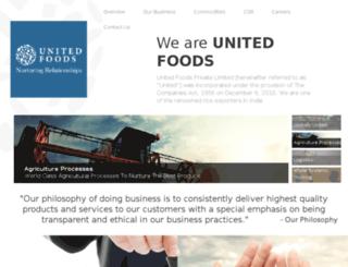 unitedfoods.in screenshot