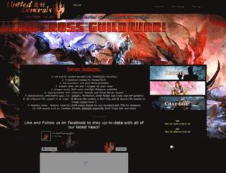 unitedgenerals.com screenshot