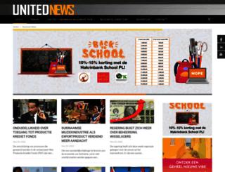 unitednews.sr screenshot