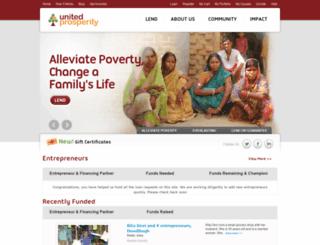 unitedprosperity.org screenshot
