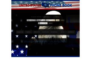 unitedstatesphonebook.com screenshot