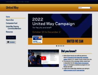 unitedway.nd.edu screenshot